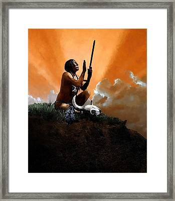 Prayer To The Great Mystery Framed Print