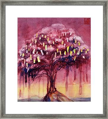 Prayer Tree II Framed Print by Janet Chui