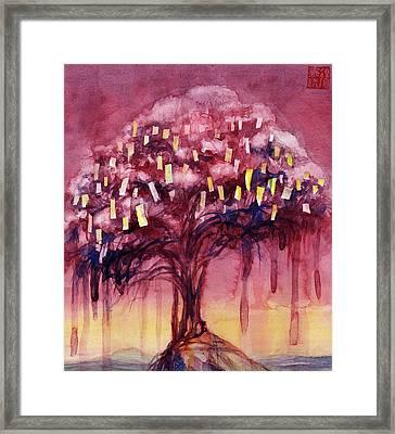 Prayer Tree II Framed Print by Janet Chui