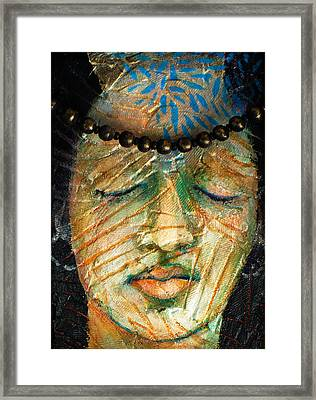Prayers For The Ancestors Framed Print by Sue Reed