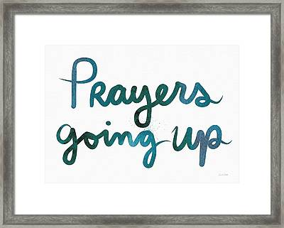 Prayers Going Up- Art By Linda Woods Framed Print
