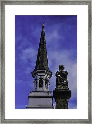 Praying Angel Framed Print by Garry Gay