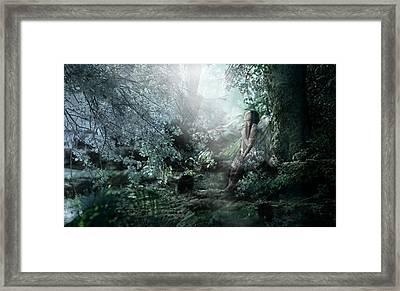 Praying Angel Framed Print by Kume Bryant
