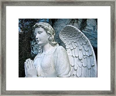 Framed Print featuring the photograph Praying Angel by Lori Miller