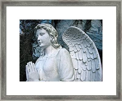 Praying Angel Framed Print by Lori Miller