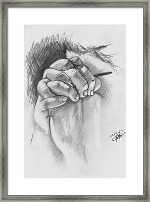 Praying Hands Framed Print by Jason Yaw