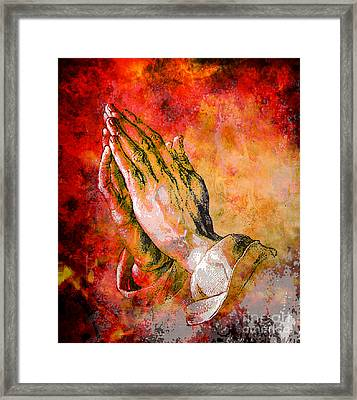 Praying Hands Framed Print by Tammera Malicki-Wong