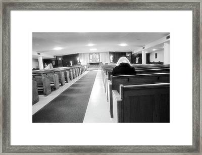 Praying In Peace Framed Print