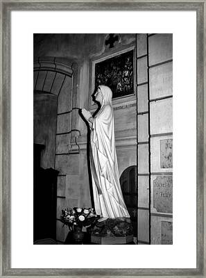 Framed Print featuring the photograph Praying Nun 2 by Elf Evans