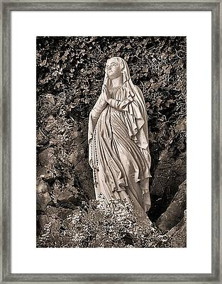 Framed Print featuring the photograph Praying Nun by Elf Evans