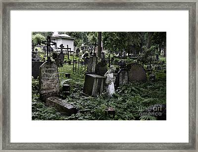 Praying Statue In The Old Cemetery Framed Print by RicardMN Photography