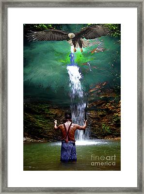 Framed Print featuring the photograph Praying To The Spirits by Al Bourassa