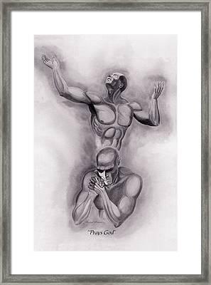 Prays God Framed Print