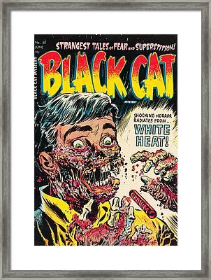 Pre Code Black Cat 50 Radium Eating Ghoul Framed Print