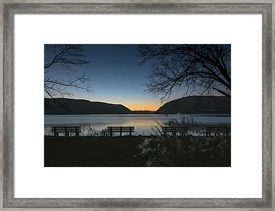 Dawn At Plum Point Framed Print by Angelo Marcialis