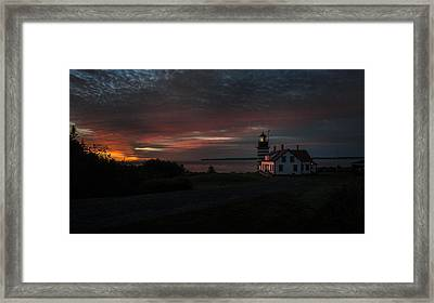Pre Dawn Light At West Quoddy Head Lighthouse 2 Framed Print by Marty Saccone