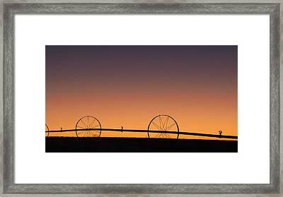 Pre-dawn Orange Sky Framed Print