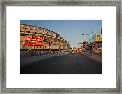 Pre-game Cubs Traffic Framed Print by Sven Brogren