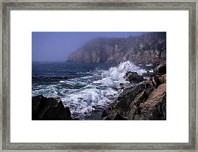 Pre Irene Surge Framed Print by Marty Saccone