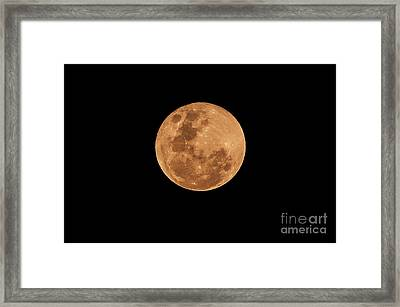 Post-penumbral Moon Framed Print by Venura Herath
