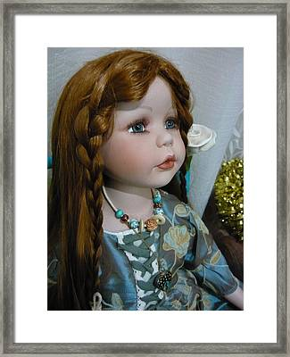 Pre Raphaelite Doll  Framed Print by Adrianne Wood
