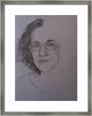 Pre Sketch For Clare Pencil Framed Print by Ray Agius