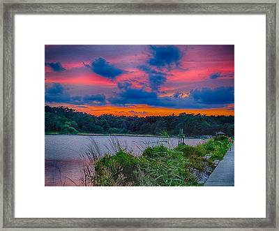 Framed Print featuring the photograph Pre-sunset At Hbsp by Bill Barber