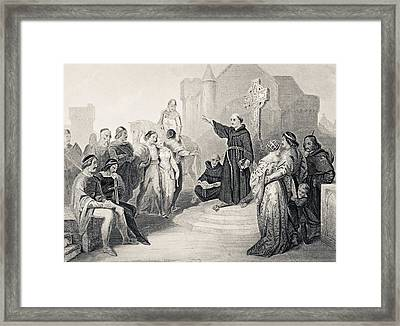 Preaching The Crusade In 11th Century Framed Print