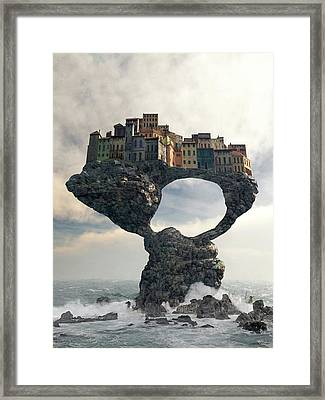 Precarious Framed Print by Cynthia Decker