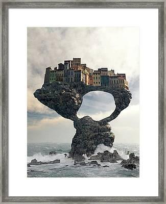 Precarious Framed Print by Cynthia Decker