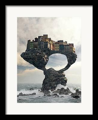 Town Digital Art Framed Prints