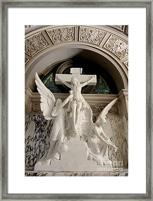 Precious Blood Of Jesus Framed Print by Elizabeth Duggan
