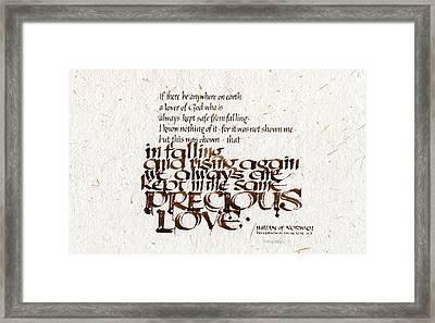 Precious Love Framed Print