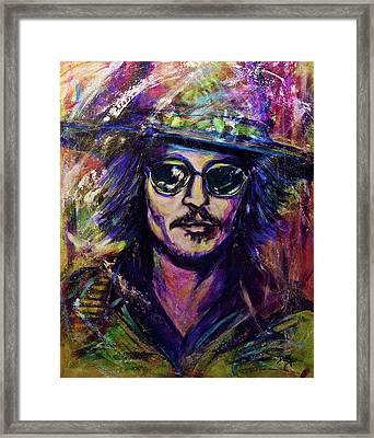 Precious Metals, Johnny Depp Framed Print by Debi Starr