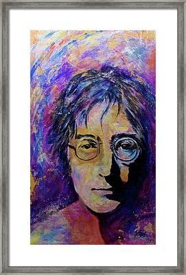 Precious Metals Lennon Framed Print by Debi Starr