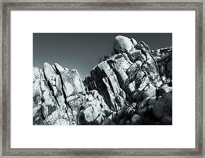 Precious Moment - Juxtaposed Rocks Joshua Tree National Park Framed Print