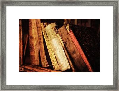 Precious Old Books Framed Print