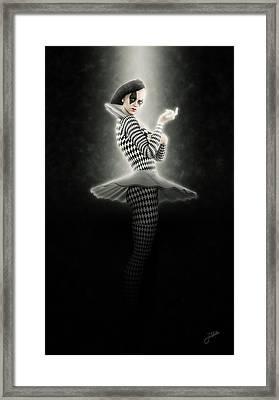 Precious Pierrette Of Light Framed Print by Joaquin Abella