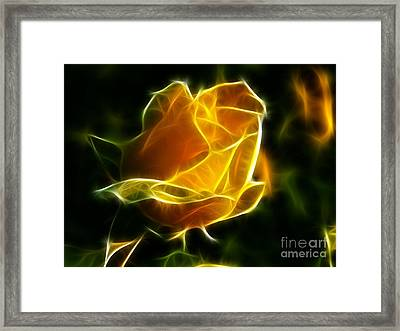 Precious Yellow Flower Diamond Style Framed Print
