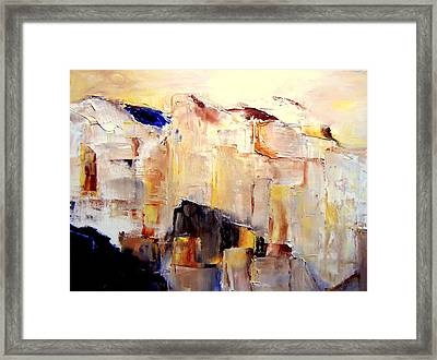 Precipice 1 Austrian Alps Imagined-dedicated  Framed Print