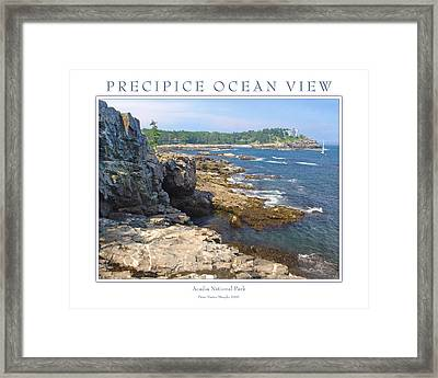 Precipice Ocean View Framed Print by Peter Muzyka