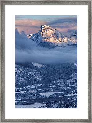Precipice Smiling Framed Print