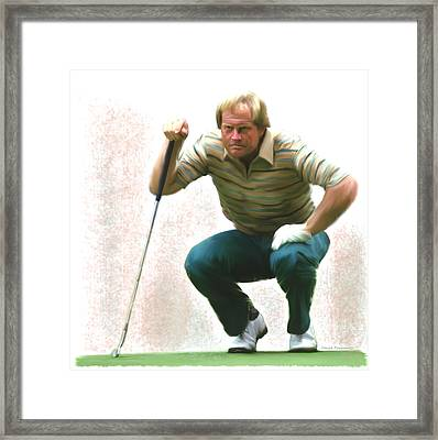 Precision Jack Nicklaus  Framed Print by Iconic Images Art Gallery David Pucciarelli