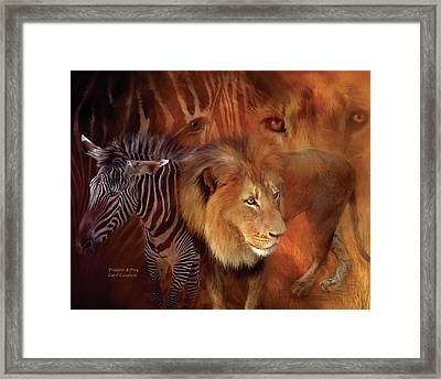 Predator And Prey Framed Print by Carol Cavalaris