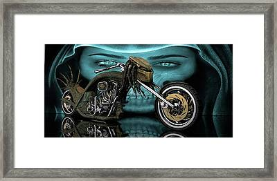 Framed Print featuring the digital art Predator Chopper by Louis Ferreira