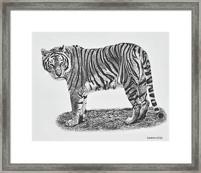 Predator Portrait Framed Print by Larry Linton
