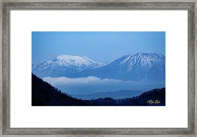 Framed Print featuring the photograph Predawn Peaks by Rikk Flohr