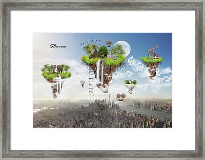 Predicting The Future Framed Print by Surreal Photomanipulation