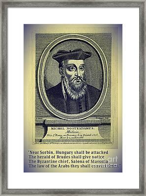 Predictions Of Nostradamus 4 Framed Print by Binka Kirova