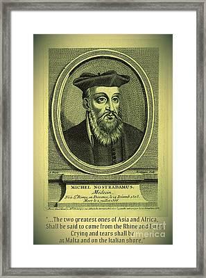 Predictions Of Nostradamus 2 Framed Print by Binka Kirova